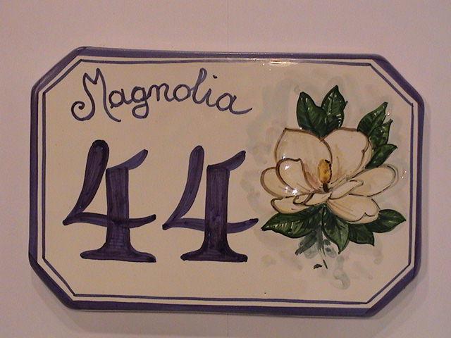 Numeri Civici In Ceramica.Targa In Ceramica Con Numero Civico Personalizzato Numeri