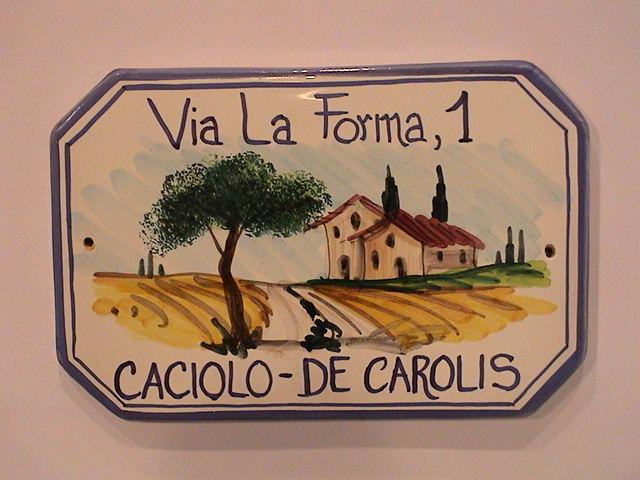 Targa in ceramica con numero civico personalizzato numeri civici
