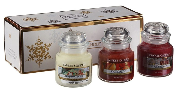 Yankee Candle Natale.Giftset With 3 Small Jars Yankee Candle