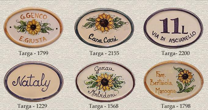 Targhette Per Porte In Ceramica.Targhe Personalizzate In Ceramica